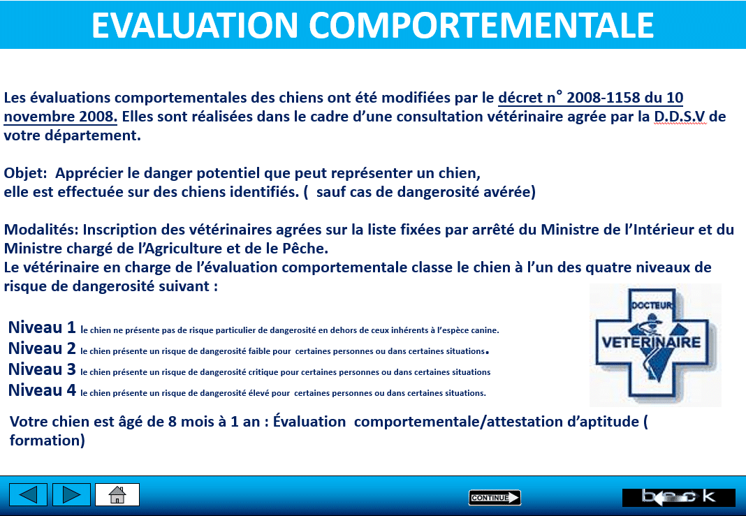 evaluation comportementale curtis
