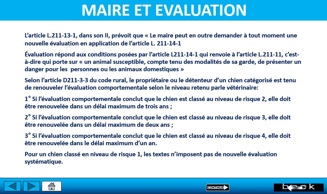 evaluation comportementale